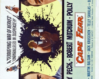 CAPE FEAR Movie Poster 1962 Gregory Peck