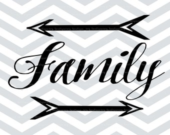 Family SVG File, Cut File, Cricut explore, Quote Overlay, Vinyl, Vector, Cutting File, PNG, Silhouette, Clip Art, Overlay, Vector, Arrow