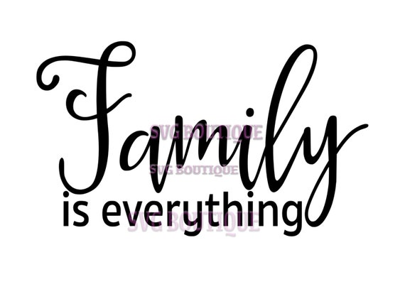 family is everything svg file family cut file sparkle quote clip art clip art overlay. Black Bedroom Furniture Sets. Home Design Ideas