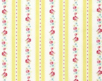 35% off - 2 yards Free Spirit Tanya Whelan Collection - Yellow Garden Ticking Stripes PWTW107-YELLOW