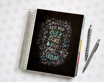 Erin Condren Life Planner Cover - lettering quote, handmade planner dashboard