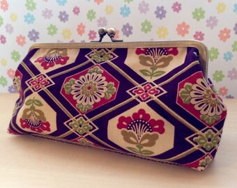 Cosmetic Pouch with Kimomo Fabric wool/rectangular