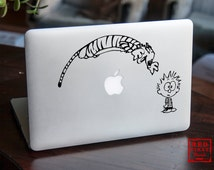 Macbook sticker | Calvin and Hobbes sticker | Calvin and Hobbes decal