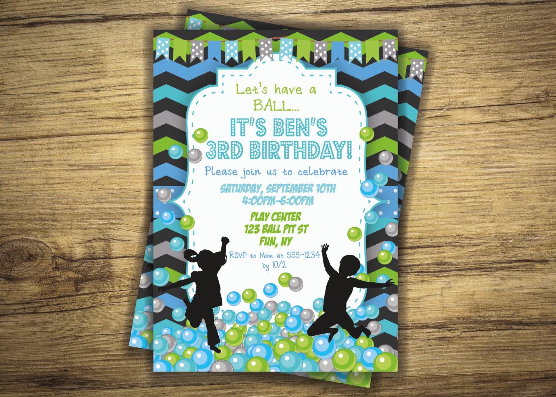 ball pit birthday ball pit birthday party invitation play zone balls bounce house boy invite first birthday 1st digital file printable