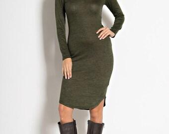 D803 Long Sleeve Knit Dress