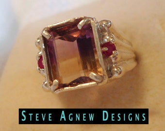 Ametrine and Ruby Ring