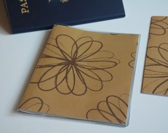 US Passport Case Passport Cover, Brown Loopy Doodle Flowers, Passport  Sleeve, Case, Holder