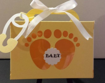 Baby Feet Favor Box set of 10