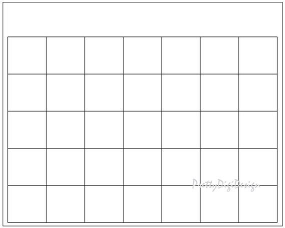 Blank Calendar Printable Page Ready To Print Calendar Diy