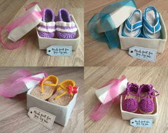 Beautiful Handmade Felt Box for Baby Shoes Only (Must be purchased along with an existing order)
