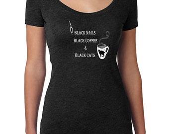 Black Everything Short Sleeve Shirt