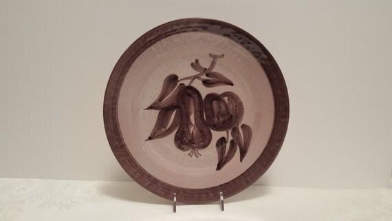 Stangl Terra Rose Mauve Fruit  10'' Plate #3434