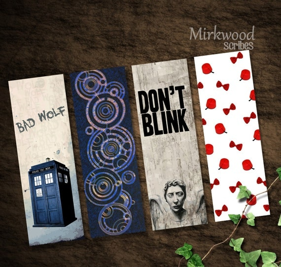 Doctor Who Printable Bookmarks Bad Wolf Don T Blink