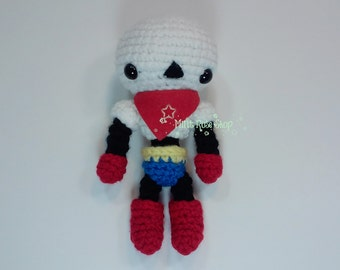 Undertale Papyrus Amigurumi, Undertale Plush, Papyrus Plush, Made to Order