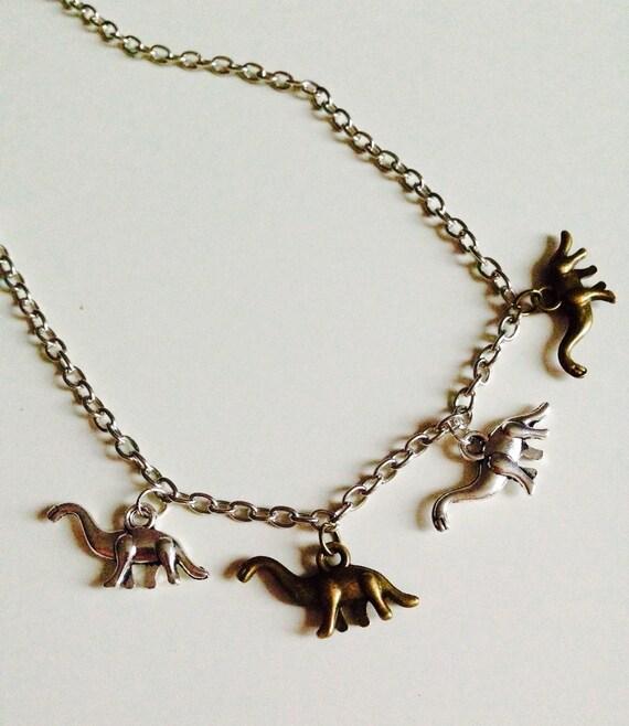 Dinosaur   T-rex   Diplodocus   Jurassic World   Charm   Necklace