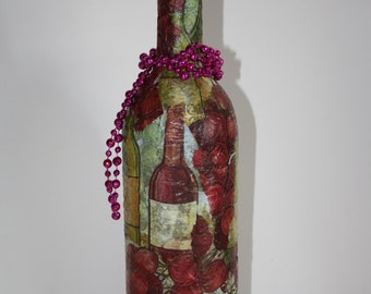 Decorative Up-cycled Glass Bottle