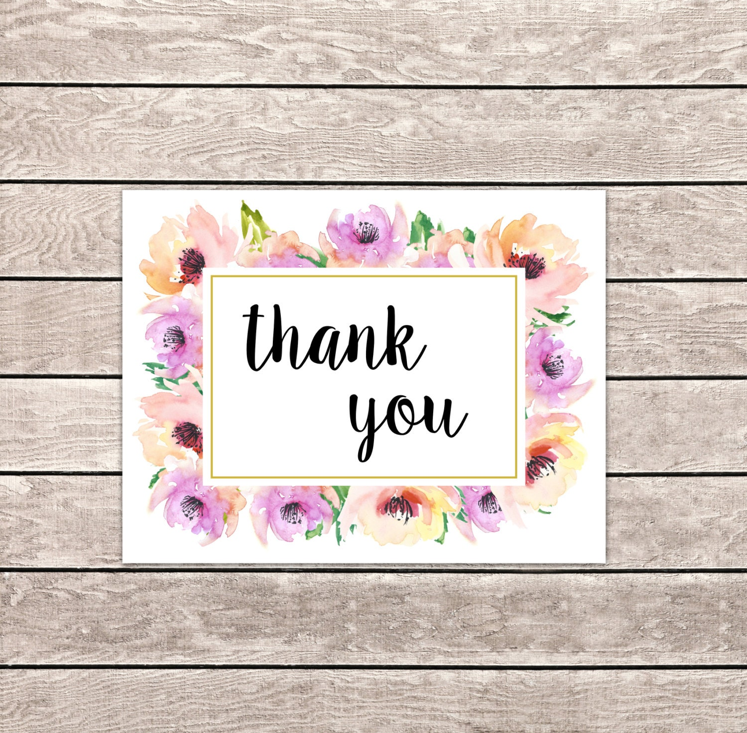 It is a picture of Striking Thank You Cards Printable