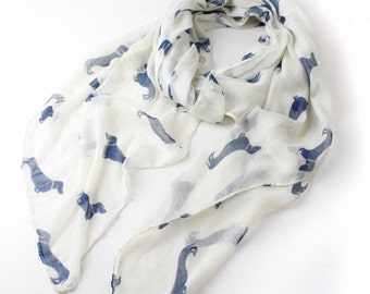 Scarf with Dachshund Print