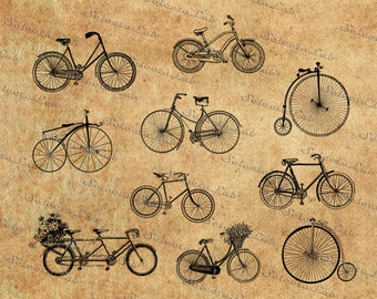 Digital SVG PNG bike, bycicle, vector, clipart, silhouette, instant download