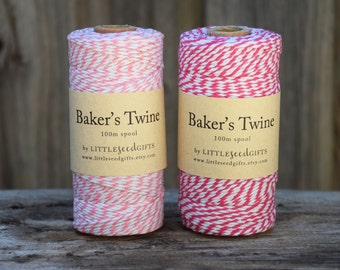 Pink Baker's Twine FREE SHIPPING 100m - 12ply 100% Cotton Twine