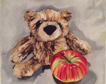 Little Teddy with Apple