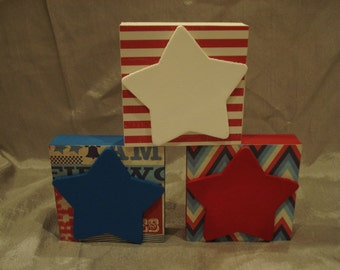 Star Blocks (Set of Three)