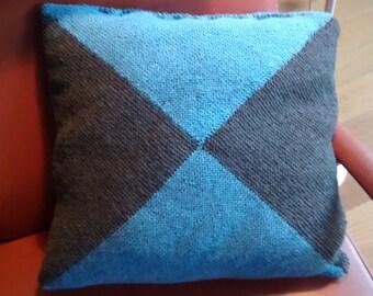 Cushion cover, blue grey, 18 x 18 inch