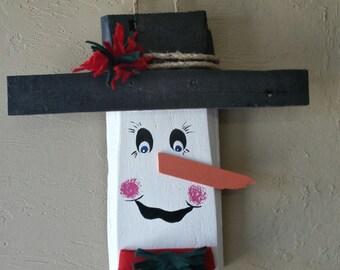 Reclaimed lumber Door Snowman