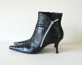 Black Donald Pliner Ankle Boots Size 9
