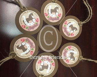 Country Cowgirl Birthday Favor Tags
