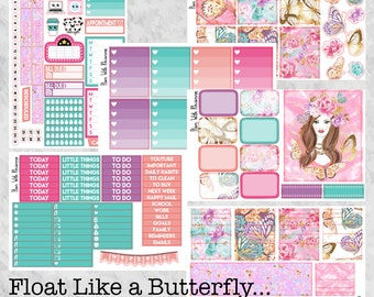 Float Like a Butterfly... Full 6 Page Weekly Kit for the Erin Condren Life Planner