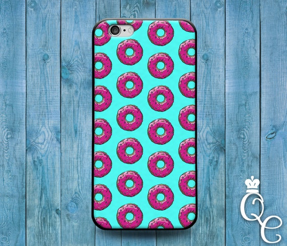 iPhone 4 4s 5 5s 5c SE 6 6s 7 plus iPod Touch 4th 5th 6th Generation Cool Food Pink Teal Blue Doughnut Donut Funny Phone Cover Cute Case
