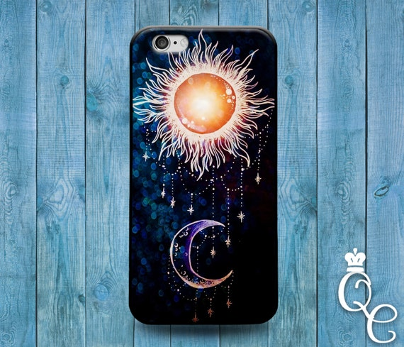 iPhone 4 4s 5 5s 5c SE 6 6s 7 plus iPod Touch 4th 5th 6th Generation Cute Sun Moon Black Purple Cool Jewelry Cover Beautiful Fun Phone Cover