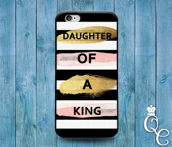 iPhone 4 4s 5 5s 5c SE 6 6s 7 plus iPod Touch 4th 5th 6th Gen Fun Cute Bible Christian King Quote Pink Gold Black White Phone Cover Fun Case