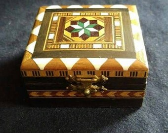 Small inlayed wooden box