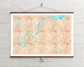 Map of Chattanooga, Chattanooga, Chattanooga art, Chattanooga map, Chattanooga print, Chattanooga decor, Chattanooga gift, Wedding Gift, Map
