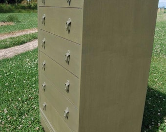 Delightful Vintage Tall Chest of Drawers - Annie Sloan - Upcycled - Shabby Chic