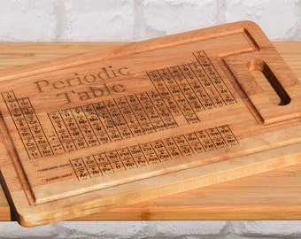 Geek Periodic Table Chopping Board, Chemistry Gift, Science Gift, Teacher Gift, Fathers Day Gift, Niew Home Present, Geek New Home