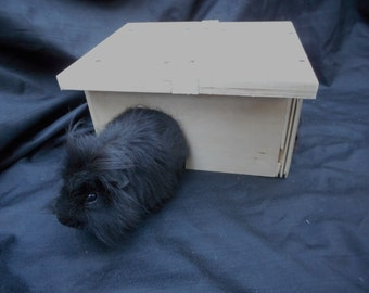 Reclaimed Wood Pet House Guinea Pig Handmade Hardwood Cavy Hut SouthWest Bungalow SKU H46Bw
