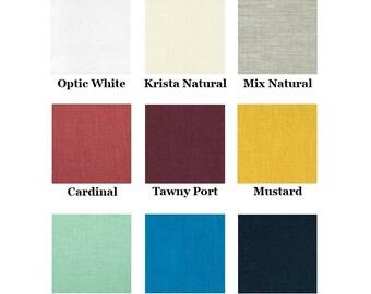 100% Linen Straight Skirt Lower-Calf Length Drawstring Elastic - Handmade Garment - Tabitha Skirt - Choose Your Color