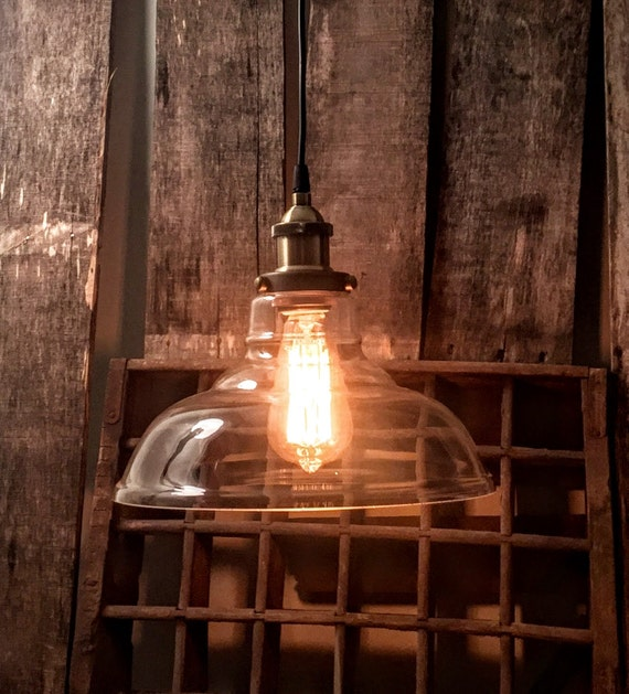 Farmhouse Kitchen Chandelier: Clear Glass Pendant Light Farmhouse Chandelier By