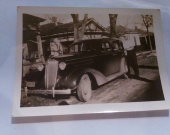 Vintage photograph 1950s? Of old car