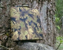 Stainless steel quality unique pattern 5oz hip flask for Bush craft and survival
