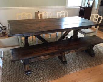 Custom made bench for dining table