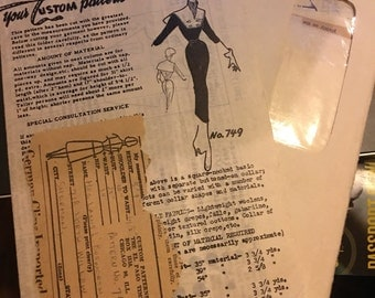 Vintage Mail Order 60's Dress Pattern-(38-25-34)