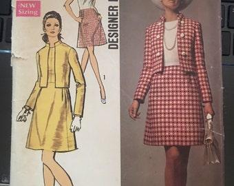 Vintage 60's Simplicity 8590 Suit Pattern-Size 14 (36-27-38)