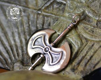Labrys double headed ax silver pendant, ax pendant, axe pendant, Labrys pendant, men's pendant, greek pendant, pendant for men, greek