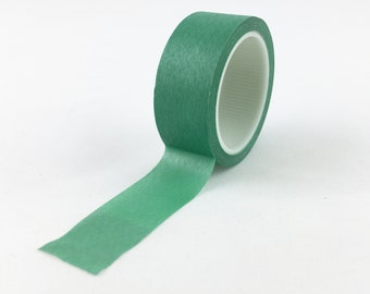 Solid Jade Green Washi Tape // 15mm // Paper Tape // BBB Crafting Supplies {CR-W-L063}