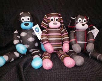 Custom Handmade Puppy Sock Animal
