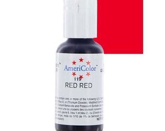 Americolor Gel Color .75 oz Red Red